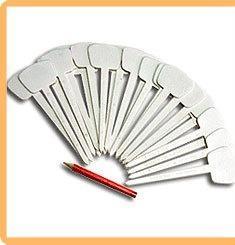 Набор ярлыков (таблички для рассады) Т-образной формы с карандашом LISTOK длина 12,5 см, 25 шт.