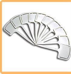 Набор ярлыков (таблички для рассады) T-образной формы с зажимом LISTOK длина 12,5 см, 10 шт.
